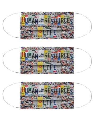 human resources life license plates mask