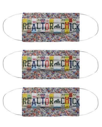 realtor chick license plates mask