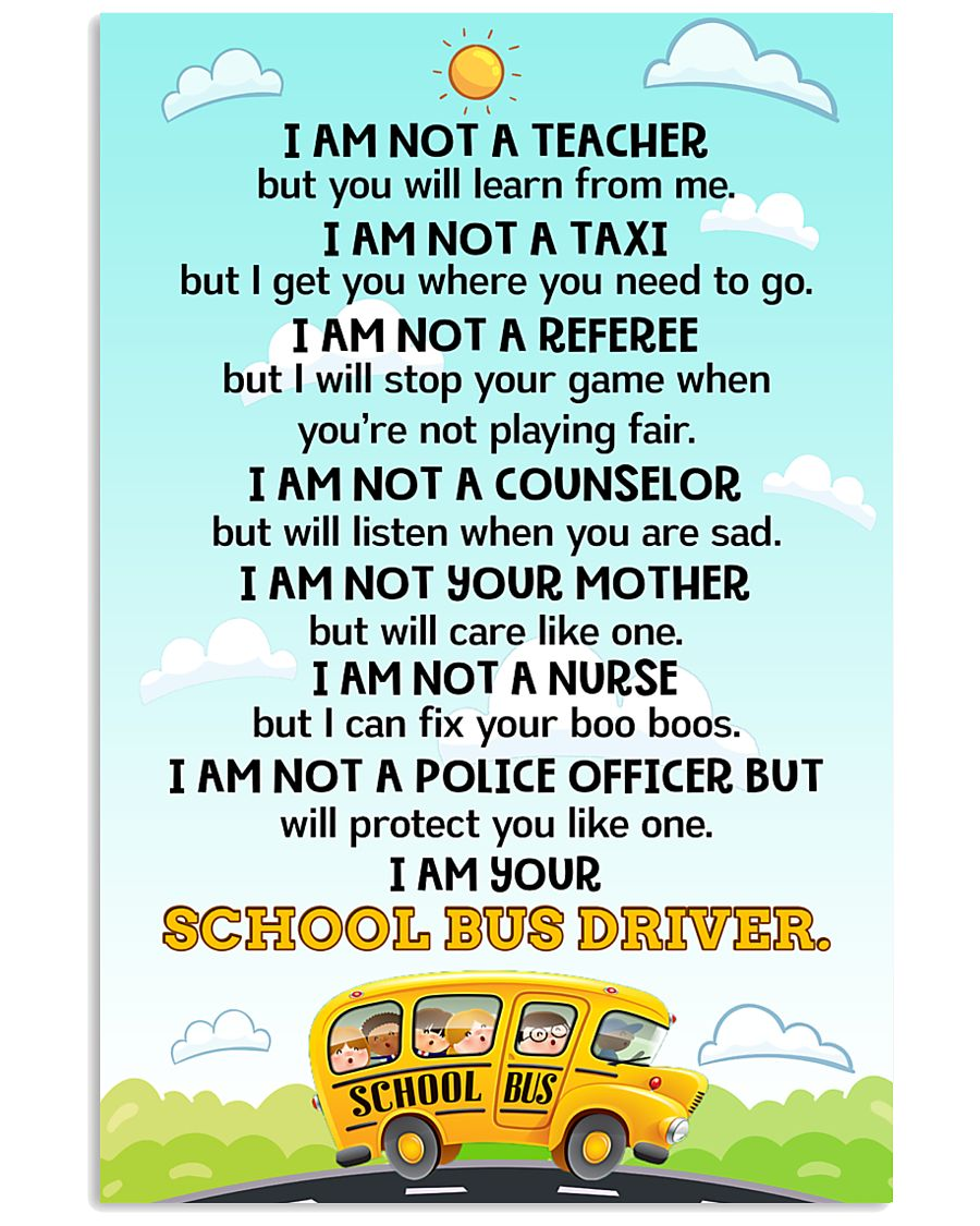 School Bus Driver Poster 11x17 Poster