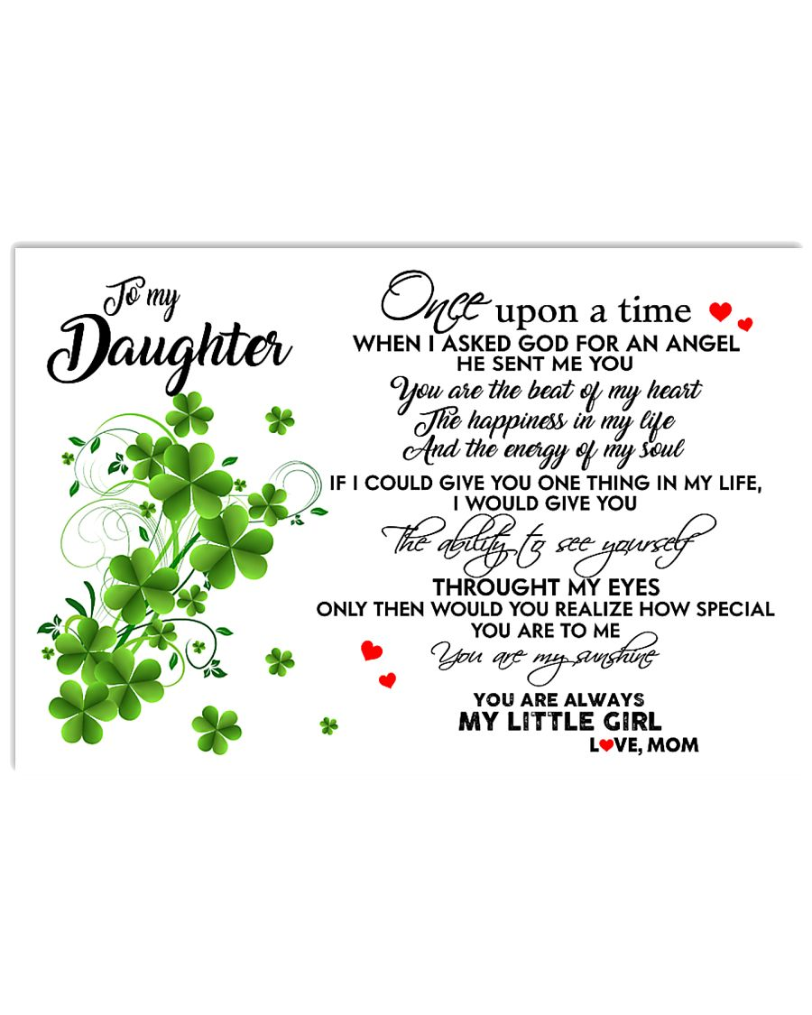 TO MY DAUGHTER- ONE UPON A TIME POSTER- MOM 17x11 Poster