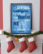 BE STRONG COURAGEOUS DO NOT BE AFRAID SKATING POST 16x24 Poster lifestyle-holiday-poster-4