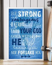 BE STRONG COURAGEOUS DO NOT BE AFRAID SKATING POST 16x24 Poster lifestyle-poster-4