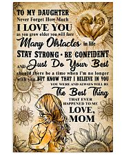 TO MY DAUGHTER - I LOVE YOU - Mom POSTER 11x17 Poster front