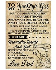 TO MY HAIRSTYLE GIRL DAD 16x24 Poster front