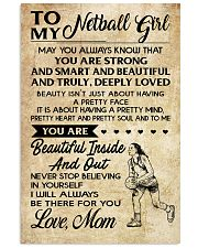 TO MY NETBALL GIRL- MOM 16x24 Poster front