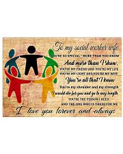 TO MY social worker WIFE- I LOVE YOU FOREVER  17x11 Poster front