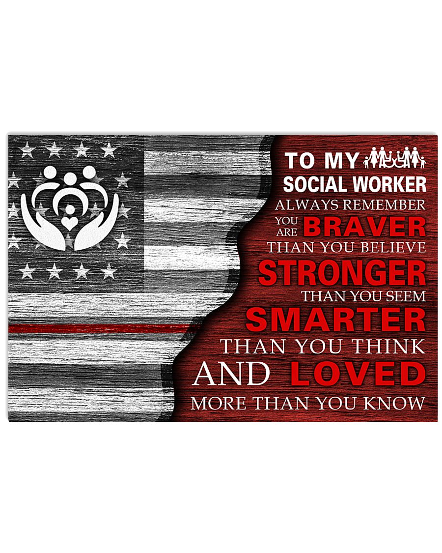 TO MY A SOCIAL WORKER POSTER 17x11 Poster