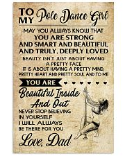 TO MY POLE DANCE GIRL- dad 16x24 Poster front