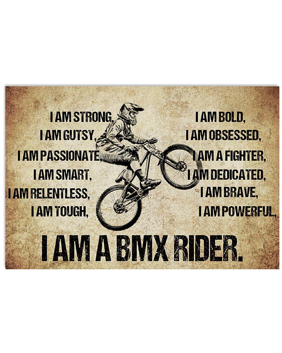 I AM A bmx rider POSTER 17x11 Poster