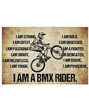 I AM A bmx rider POSTER 17x11 Poster front