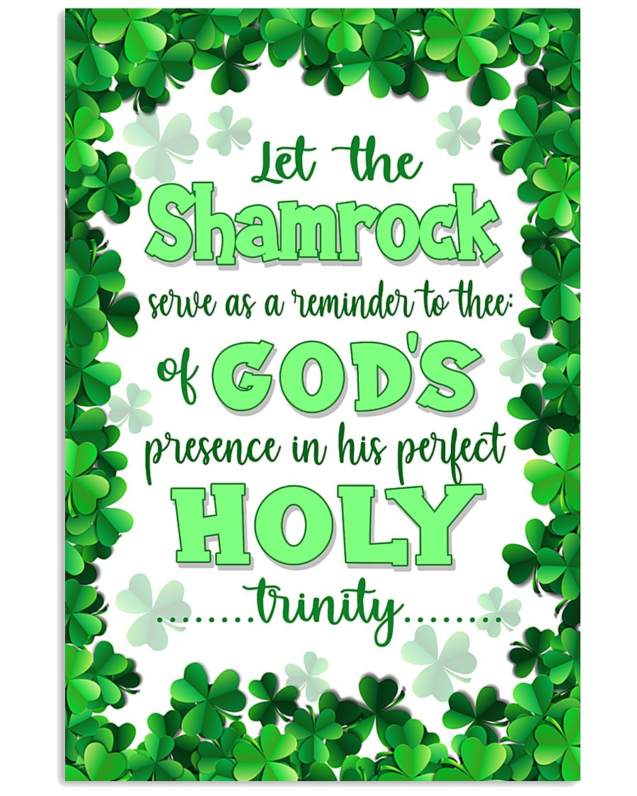 Irish - Let the Shamrock Poster SKY 11x17 Poster