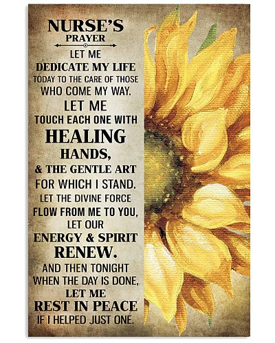 Nurse's prayer let me Dedicate my life Poster