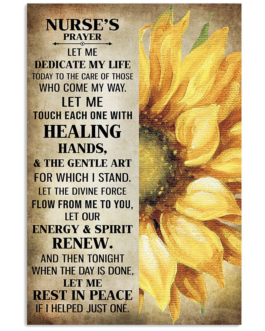 Nurse's prayer let me Dedicate my life Poster 11x17 Poster