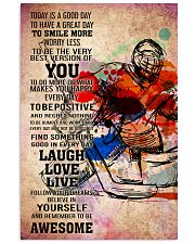11-goalie- TODAY IS A GOOD DAY POSTER kd 11x17 Poster front