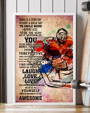 11-goalie- TODAY IS A GOOD DAY POSTER kd 11x17 Poster lifestyle-poster-4