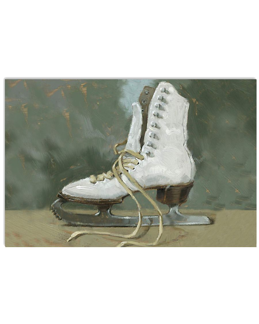 figure skating shoes painting poster 17x11 Poster
