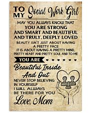 TO MY SOCIAL WORK GIRL 16x24 Poster front
