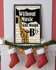 WITHOUT MUSIC LIFE WOULD - SAXOPHONE POSTER 11x17 Poster lifestyle-holiday-poster-4
