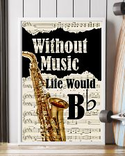 WITHOUT MUSIC LIFE WOULD - SAXOPHONE POSTER 11x17 Poster lifestyle-poster-4