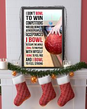I DON'T BOWL TO WIN COMPETITIONS - BOWLING 11x17 Poster lifestyle-holiday-poster-4