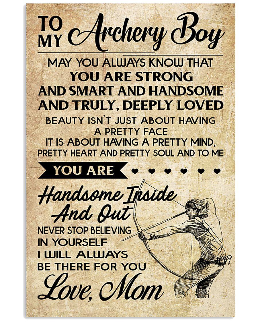 TO MY Archery Boy - MOM 16x24 Poster