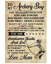 TO MY Archery Boy - MOM 16x24 Poster front