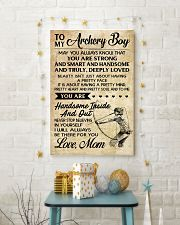 TO MY Archery Boy - MOM 16x24 Poster lifestyle-holiday-poster-3