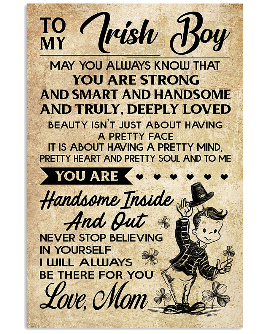 TO MY Irish Boy Mom 16x24 Poster