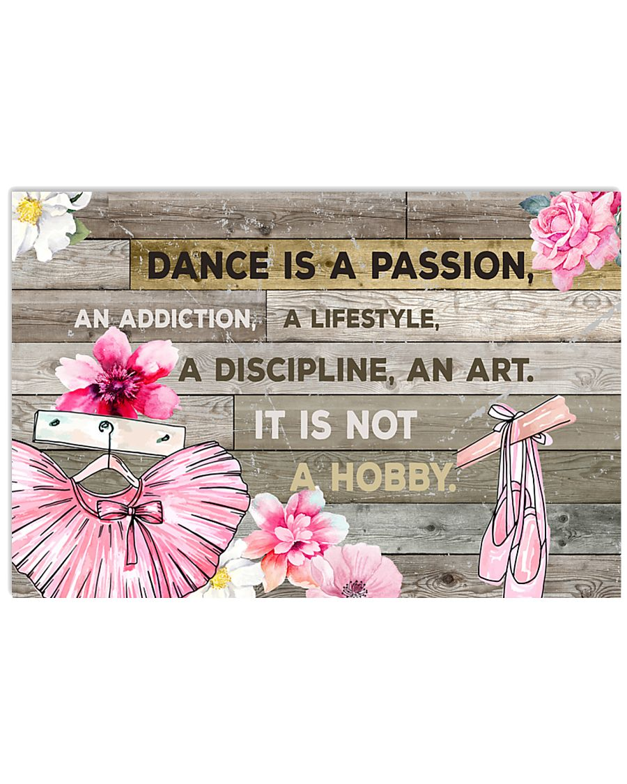 2 DANCE IS PASSION POSTER 17x11 Poster