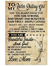 TO MY ROLLER SKATING GIRL - LOVE MOM 16x24 Poster front