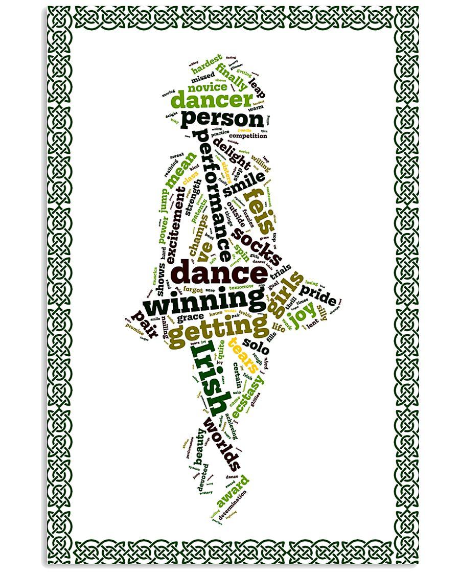 irish dance typo poster 11x17 Poster