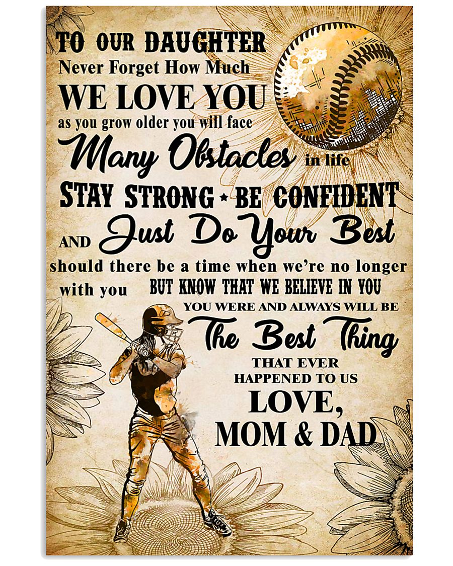 5 TO OUT DAUGHTER - WE LOVE YOU-Sotfball 11x17 Poster