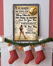5 TO OUT DAUGHTER - WE LOVE YOU-Sotfball 11x17 Poster lifestyle-holiday-poster-4