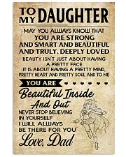 TO MY DAUGHTER- DAD 16x24 Poster front