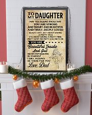 TO MY DAUGHTER- DAD 16x24 Poster lifestyle-holiday-poster-4