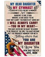 MY DEAR DAUGHTER - Gymnast 16x24 Poster front