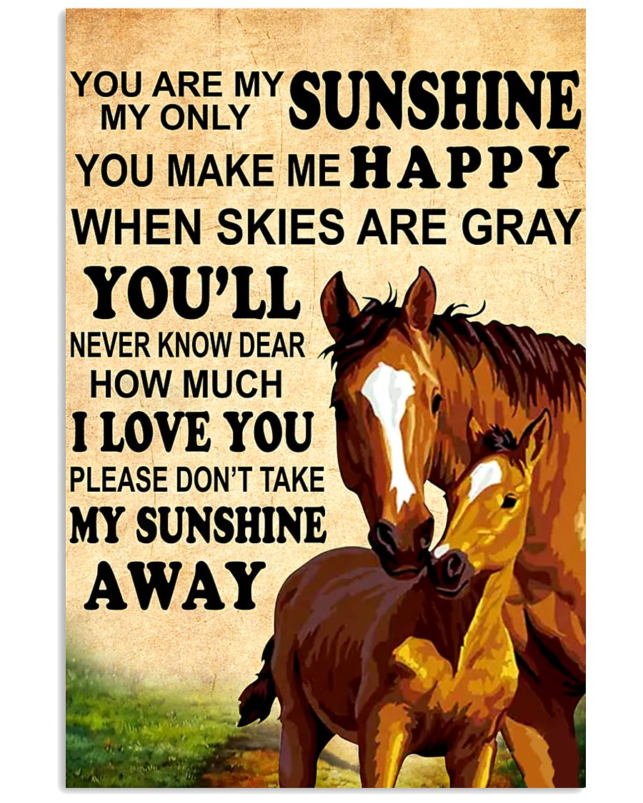 12 you are my sunshine hourse 16x24 Poster