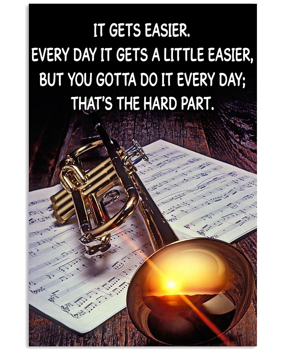 Trumpet It Gets Easier Poster 11x17 Poster
