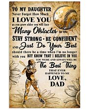 TO MY DAUGHTER - I LOVE YOU - Softball 11x17 Poster front