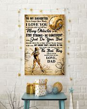 TO MY DAUGHTER - I LOVE YOU - Softball 11x17 Poster lifestyle-holiday-poster-3