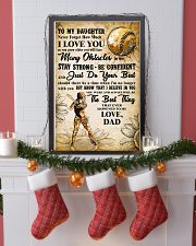 TO MY DAUGHTER - I LOVE YOU - Softball 11x17 Poster lifestyle-holiday-poster-4