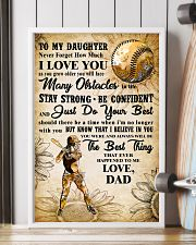 TO MY DAUGHTER - I LOVE YOU - Softball 11x17 Poster lifestyle-poster-4