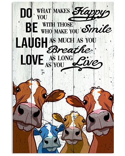 COW DO BE LAUGH LOVE POSTER
