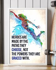 Swimming - Heroes are made Poster SKY 11x17 Poster lifestyle-poster-4