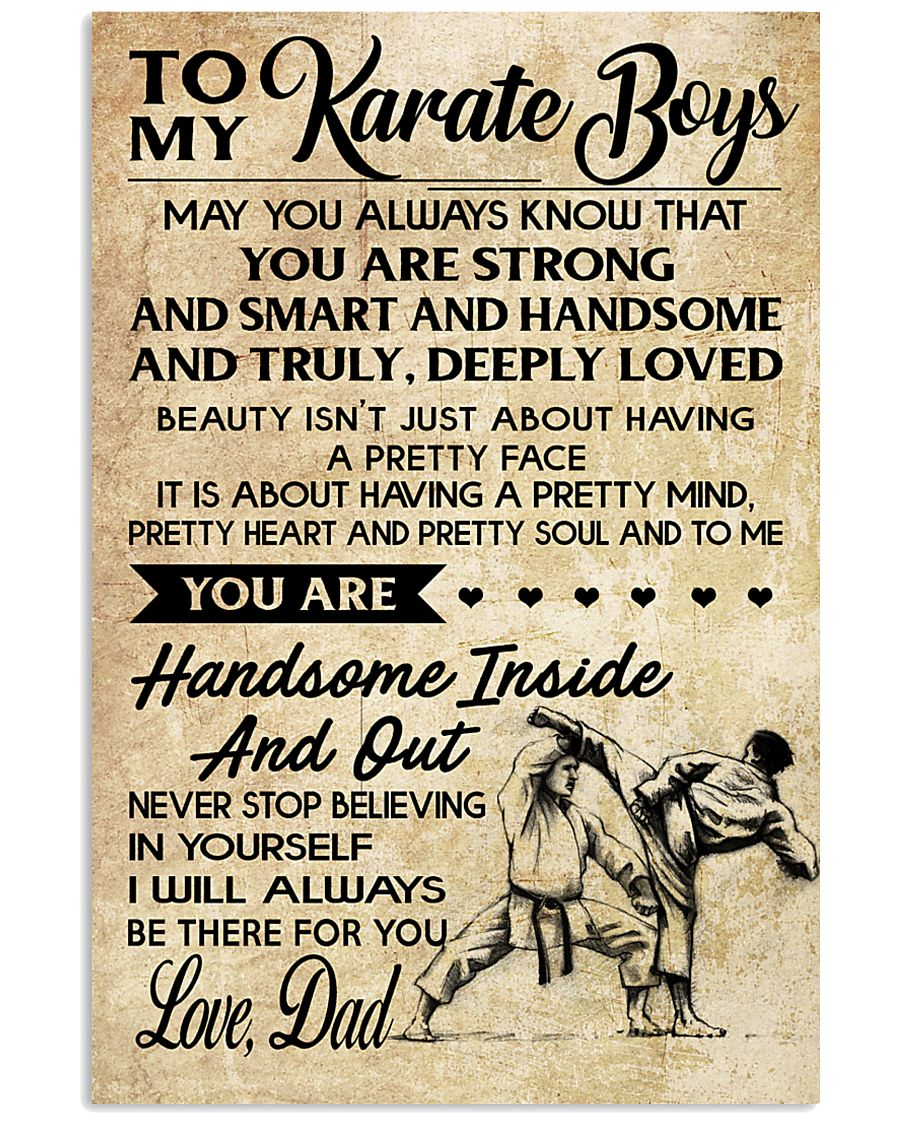 7 TO MY Karate Boy - Mom 16x24 Poster