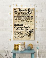 7 TO MY Karate Boy - Mom 16x24 Poster lifestyle-holiday-poster-3