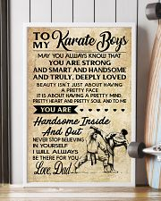 7 TO MY Karate Boy - Mom 16x24 Poster lifestyle-poster-4