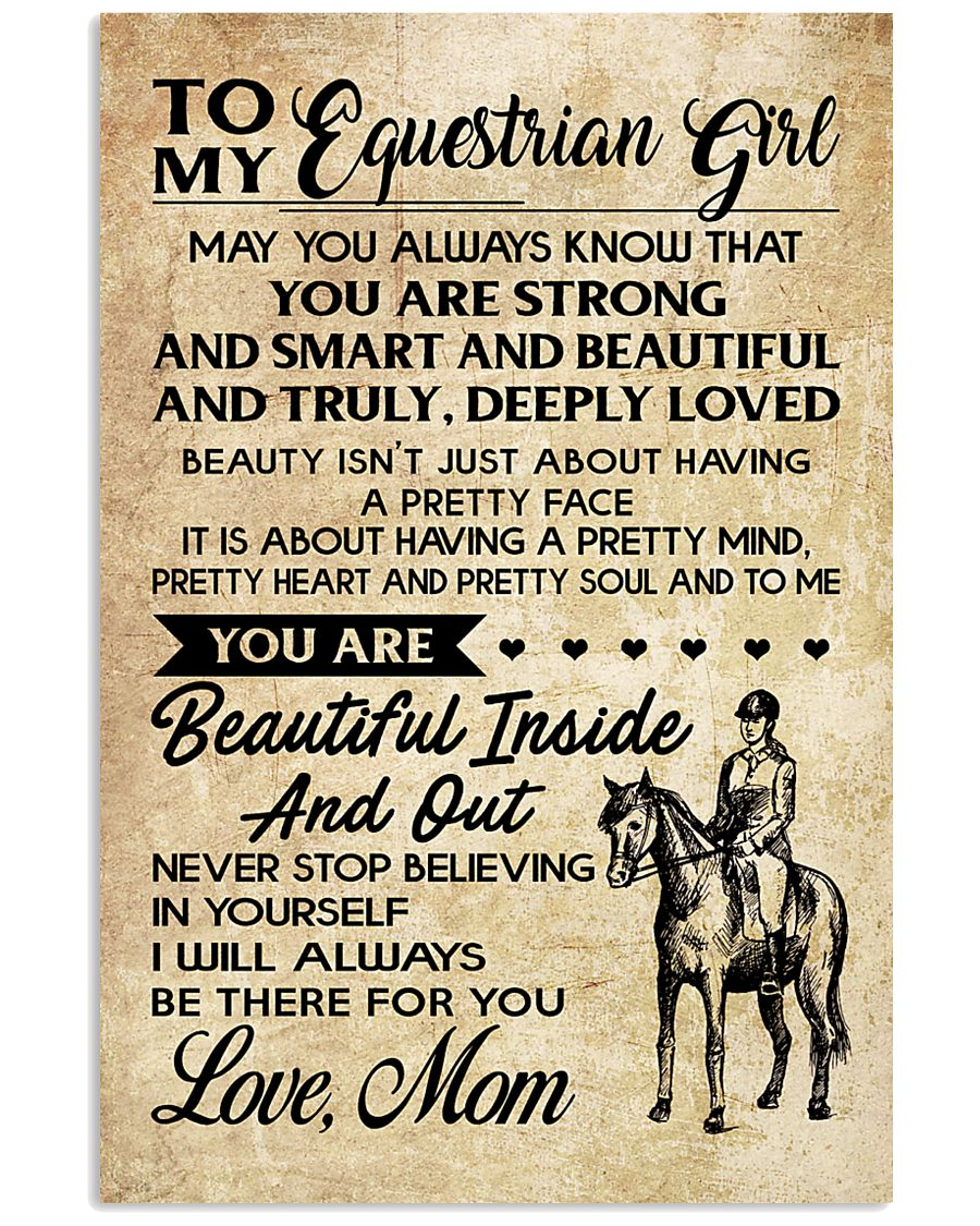 TO MY equestrian GIRL- MOM 16x24 Poster