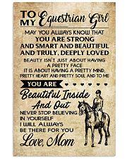 TO MY equestrian GIRL- MOM 16x24 Poster front