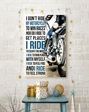 I DON'T RIDE MY MOTORCYCLE TO WIN RACES 11x17 Poster lifestyle-holiday-poster-3